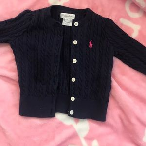 Blue Ralph Lauren sweater size 12m